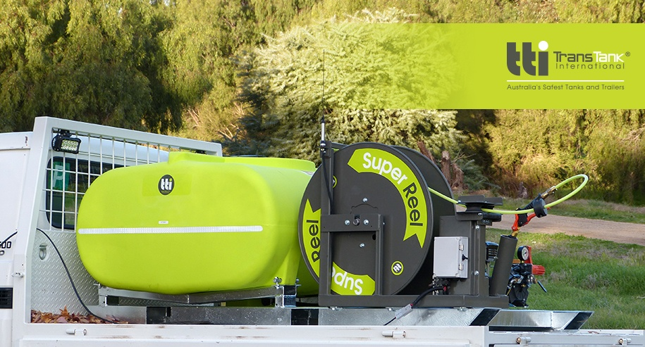 superreel, super reel, spray reel technology, auto-rewind sprayers, auto reel, sprayers in Australia, buddy reel, rapid spray, tti, trans tank, trans tank international, buddy remote reel, spray equipment, safest tanks and trailers