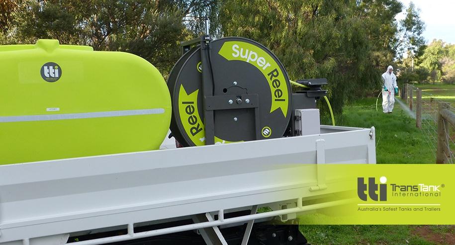 superreel, super reel, spray reel technology, auto-rewind sprayers, auto reel, sprayers in Australia, buddy reel, rapid spray, tti, trans tank, trans tank international, buddy remote reel, spray equipment, safest tanks and trailers