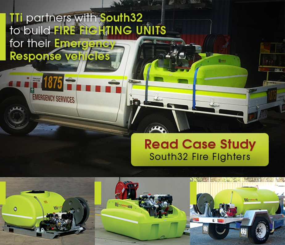 Read case study - TTi partners with South32 to build fire fighting units for quick response vehicles