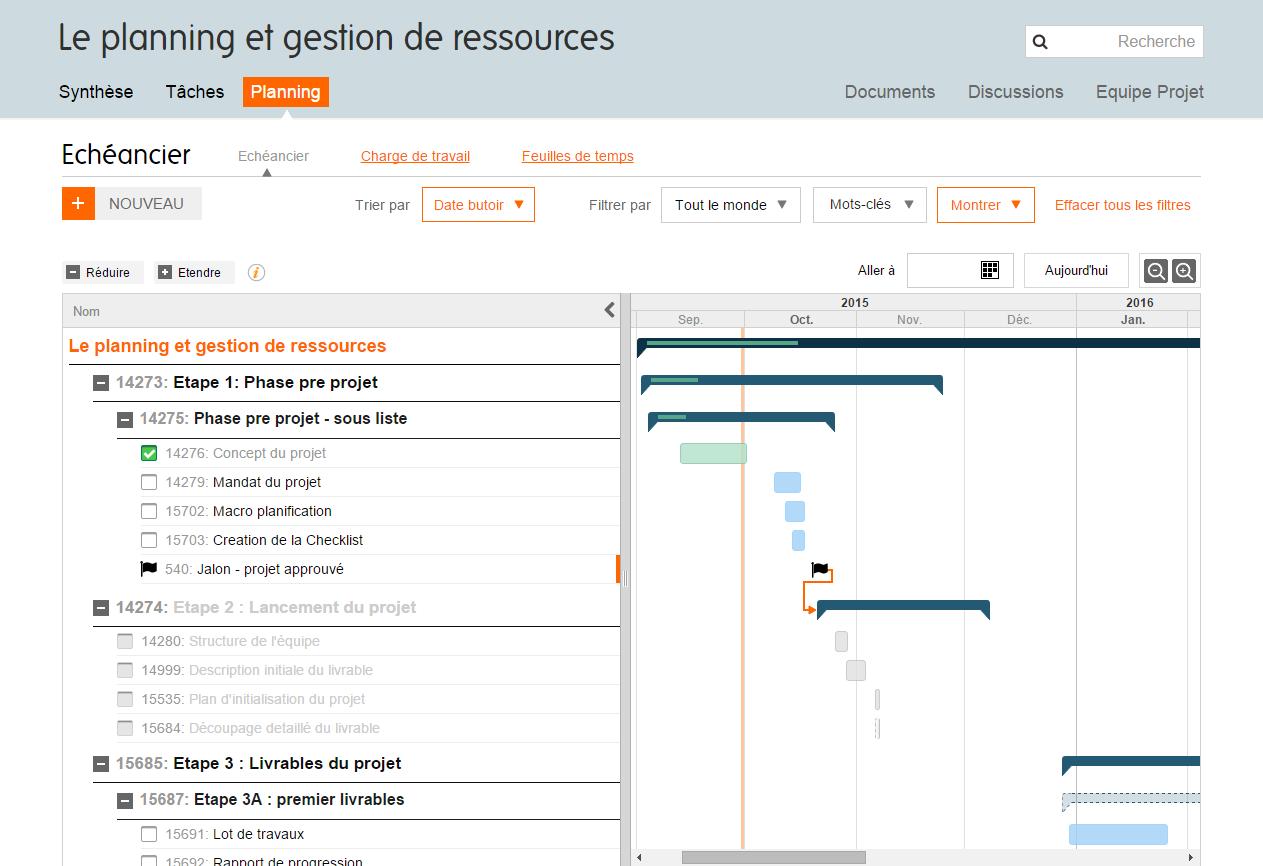Logiciel projet diagramme de gantt en ligne planzone planning de gantt ccuart Choice Image