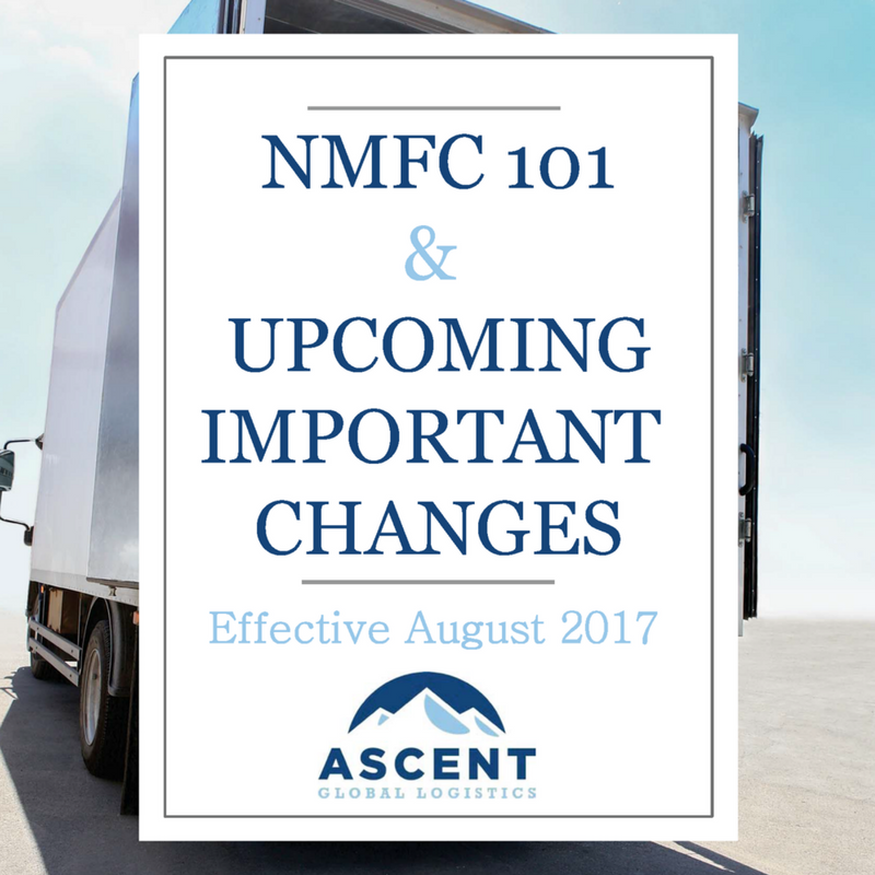 Ebook nmfc changes august 2017 National motor freight classification nmfc
