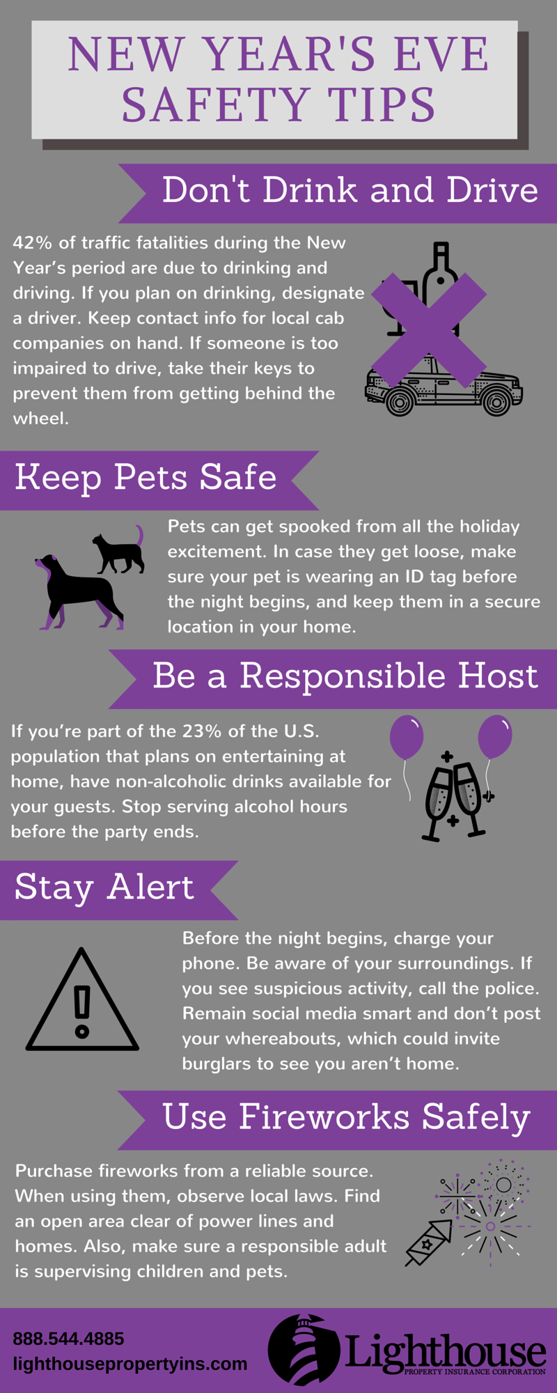 New Year's Eve Safety Tips Infographic