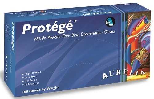 Aurelia Protege Light Blue Nitrile Gloves