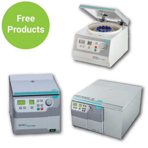 Free Products with Purchase of Benchmark Hermle Centrifuges