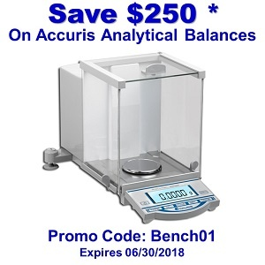 Save $250 on Accuris Analytical Balances*