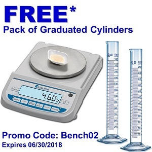 But a Benchmark Compact Balance and Receive a Free Pack of Graduated Cylinders*