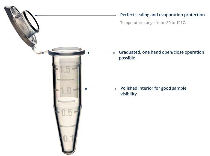 Capp Microcentrifuge Tube Features