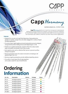 Capp Harmony Serological Pipettes Brochure