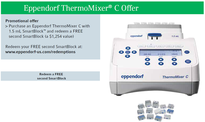 Eppendorf Thermomixer C Promotion- at Pipette.com