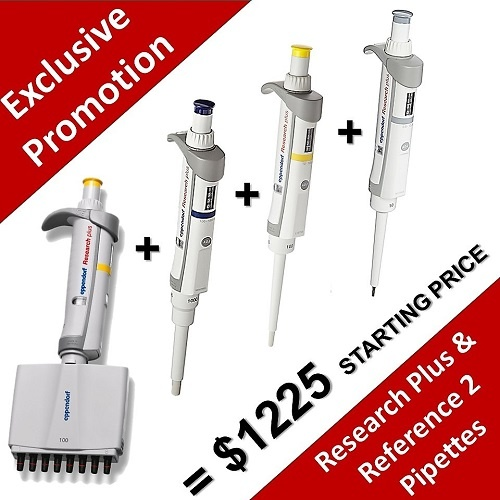 Save up to 39% with the purchase of an Exclusive Eppendorf Pipette Pack