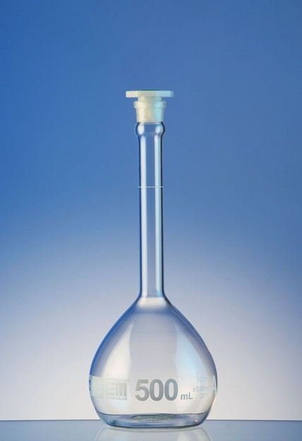 Hirschmann Class A Volumetric Flasks – Measuring Flask | Pipette.com