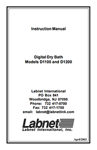 Labnet_Digital_Dry_Bath_User_Manual