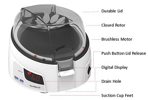 Oxford Microcentrifuge Features