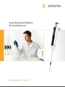 Sartorius Tacta Pipette Brochure