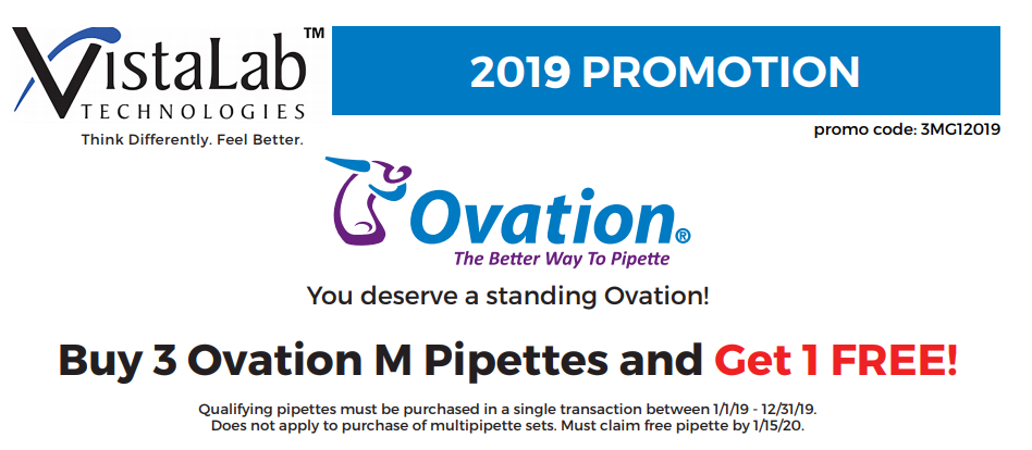 VistaLab Ovation M Pipette Promotion