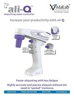 Brochure for VistaLab ali-Q Aliquoting Pipet Controller
