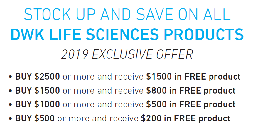 Buy $500 in DWK Products, Recieve $200 in FREE Product*