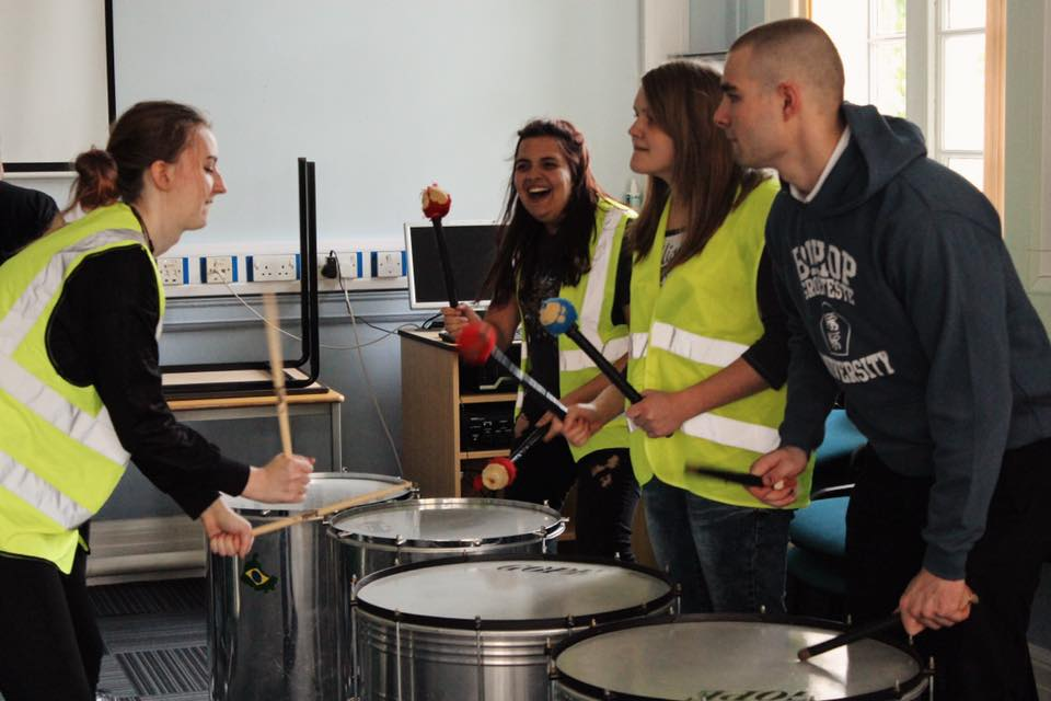 Samba band for young carers at BGU