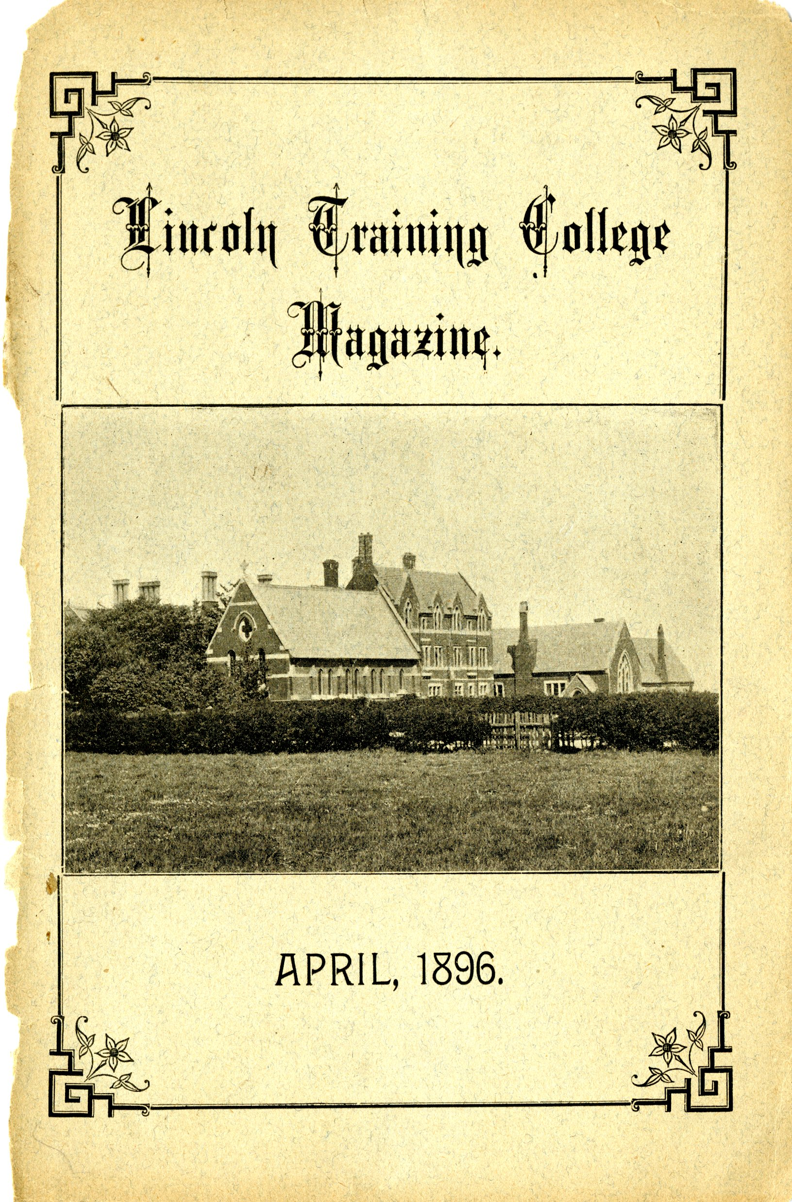 Lincoln Training College magazine April 1896