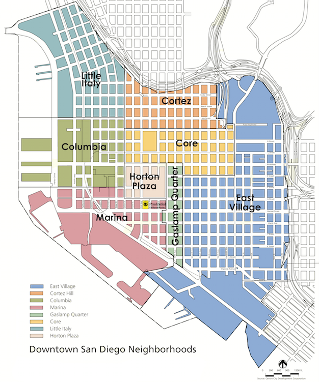 San Diego Map Of Neighborhoods.Neighborhood Spotlight Downtown San Diego 92101