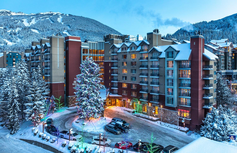 Hilton Whistler Winter Exterior