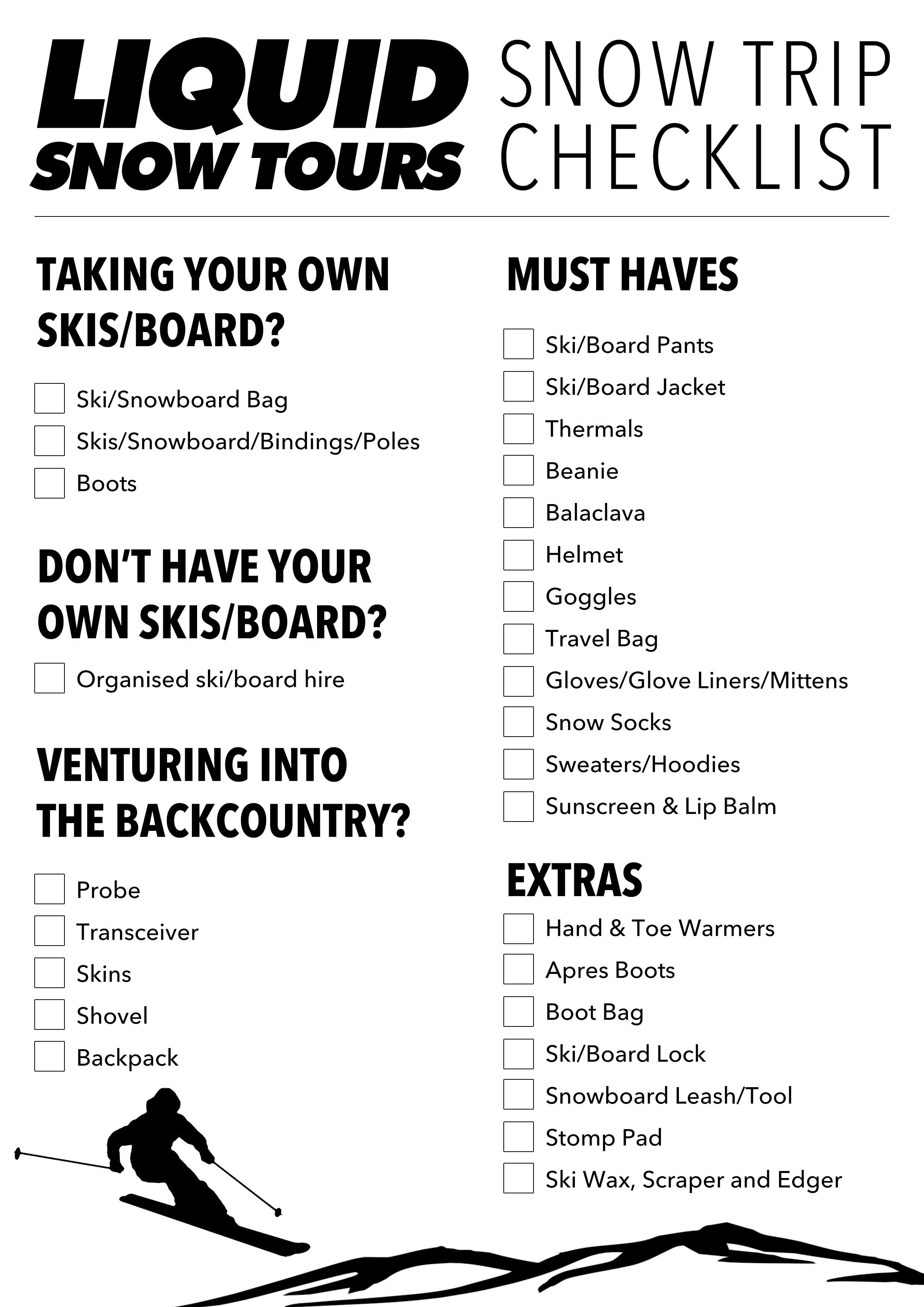 LST Snow Checklist (1)