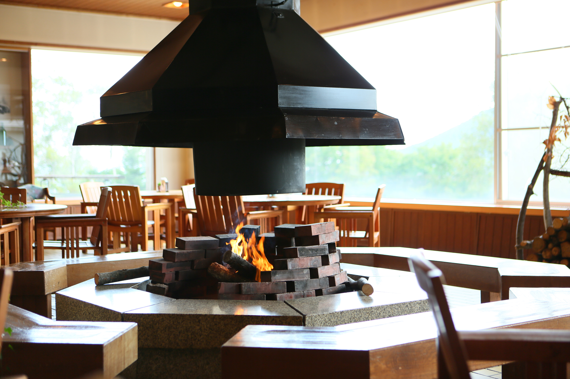 Madarao Kogen Hotel Fireplace
