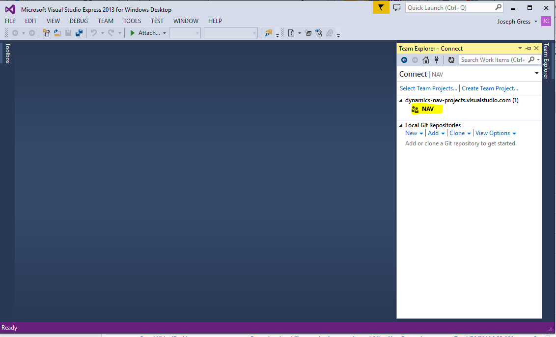 How To: Initial Setup for Using Team Foundation Server in