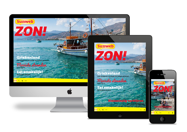 Digital travelbrochure Sunweb