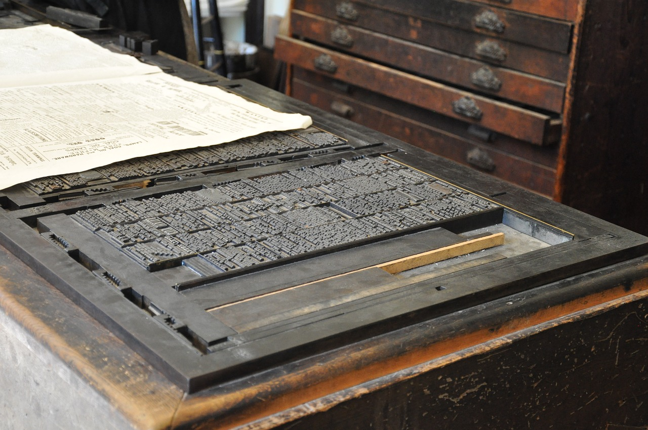 Old Fasioned Printing Press