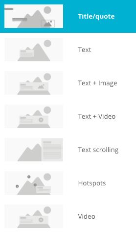 IM layout types