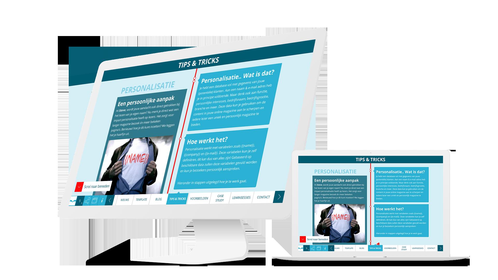 Personalisatie tips & tricks Instant Magazine