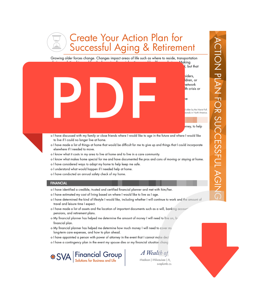 Download the Create Your Action Plan for Successful Aging & Retirement Checklist
