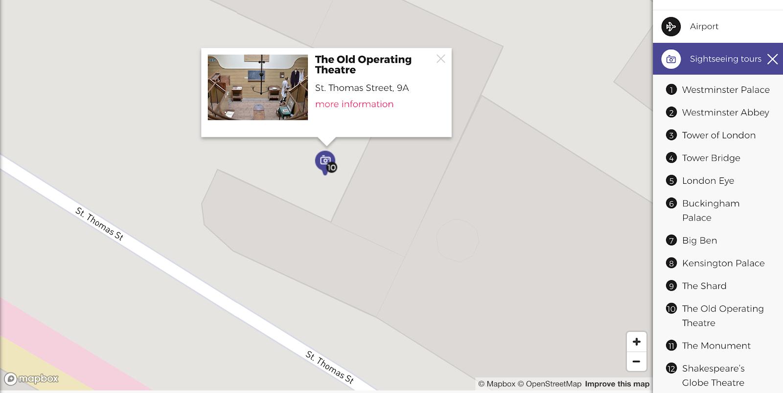 Civitatis-interactive-map-design