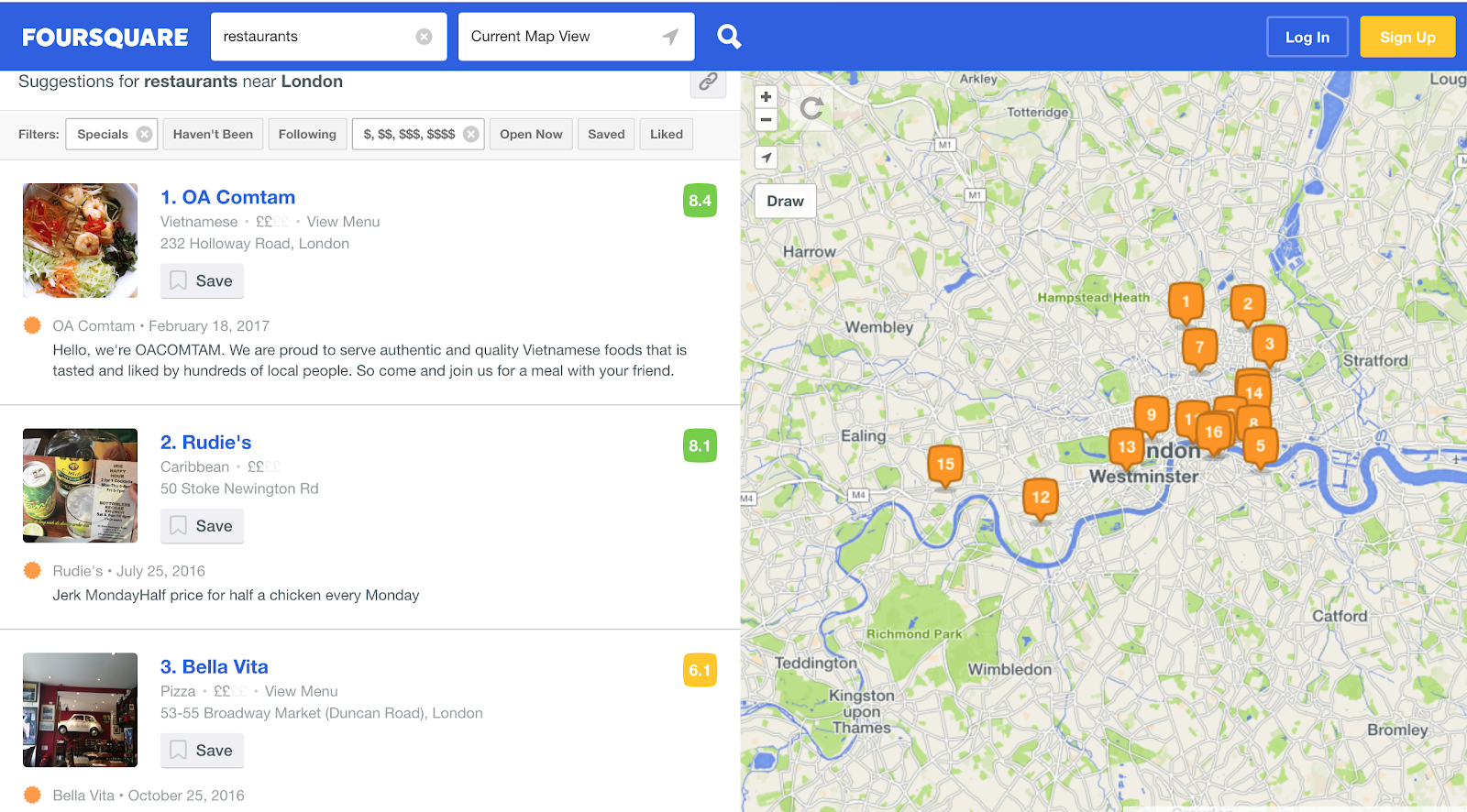 foursquare-map-view