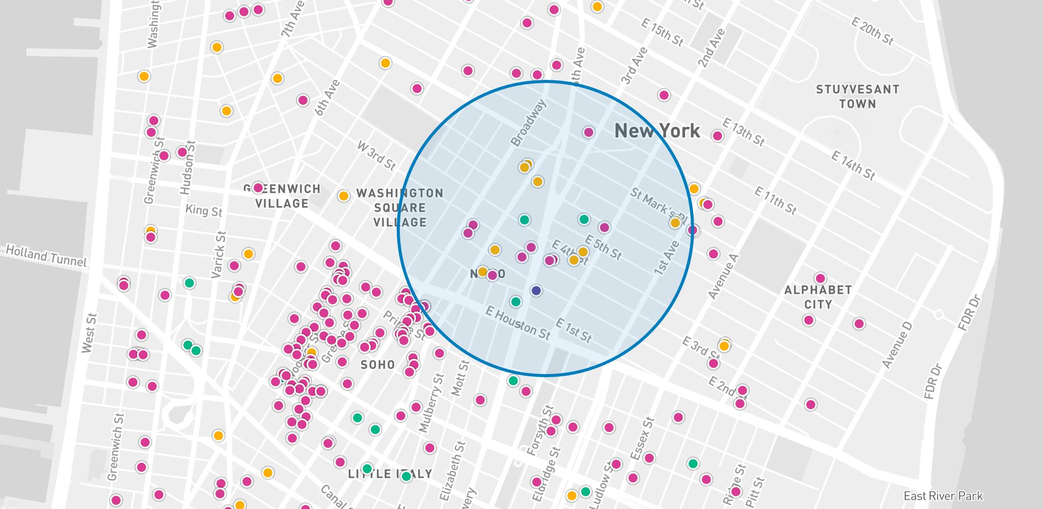 Mapbox-radius-map-example