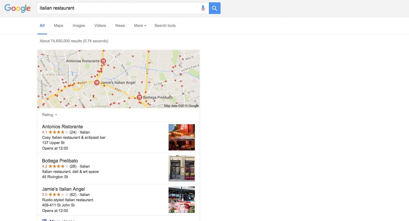 google local site search web optimisation