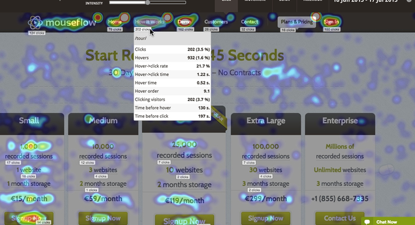 mouseflow site search web optimisation