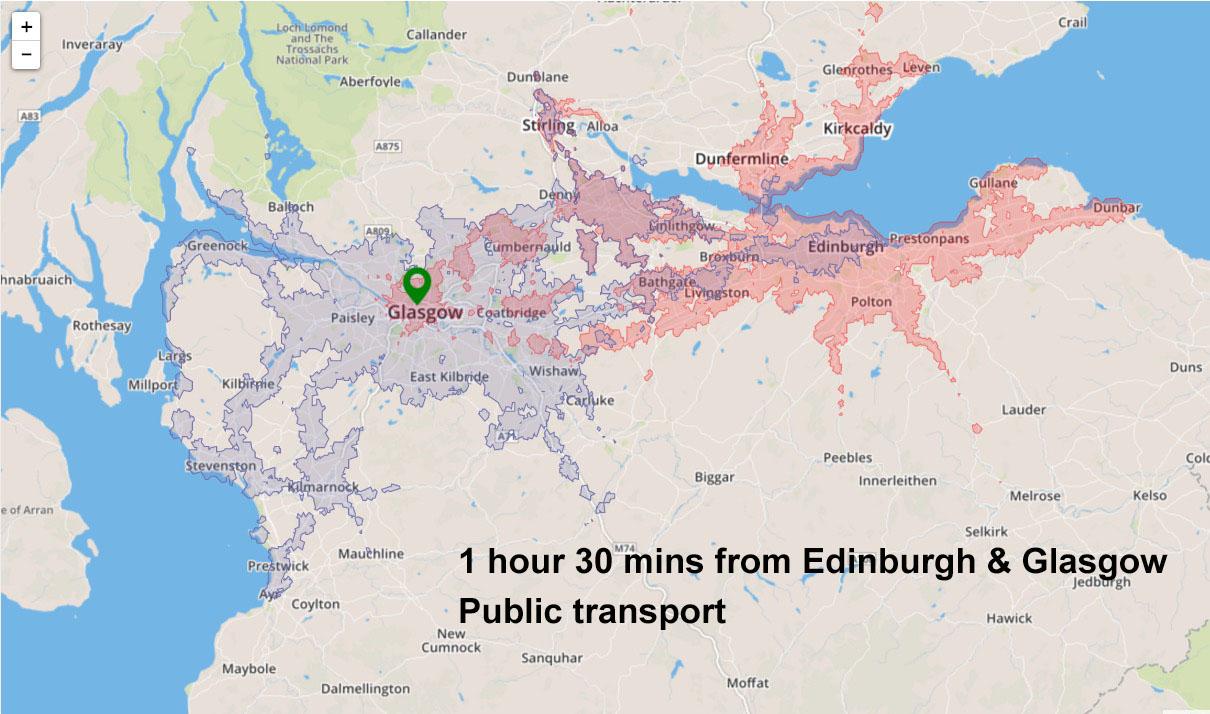 travel-time-radius-edinburgh-glasgow