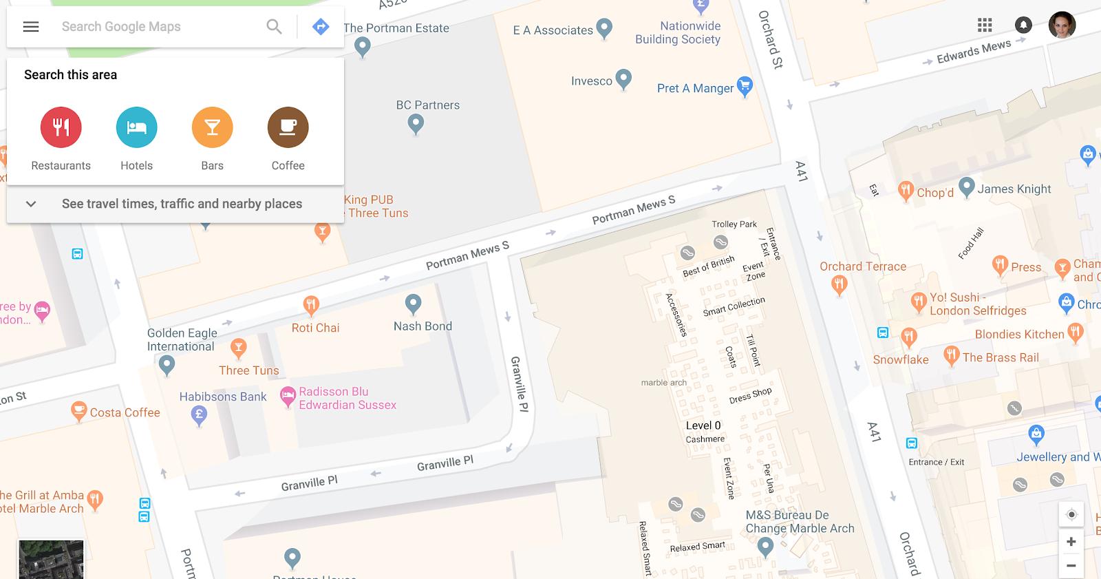 Selfridges-map-on-a-website