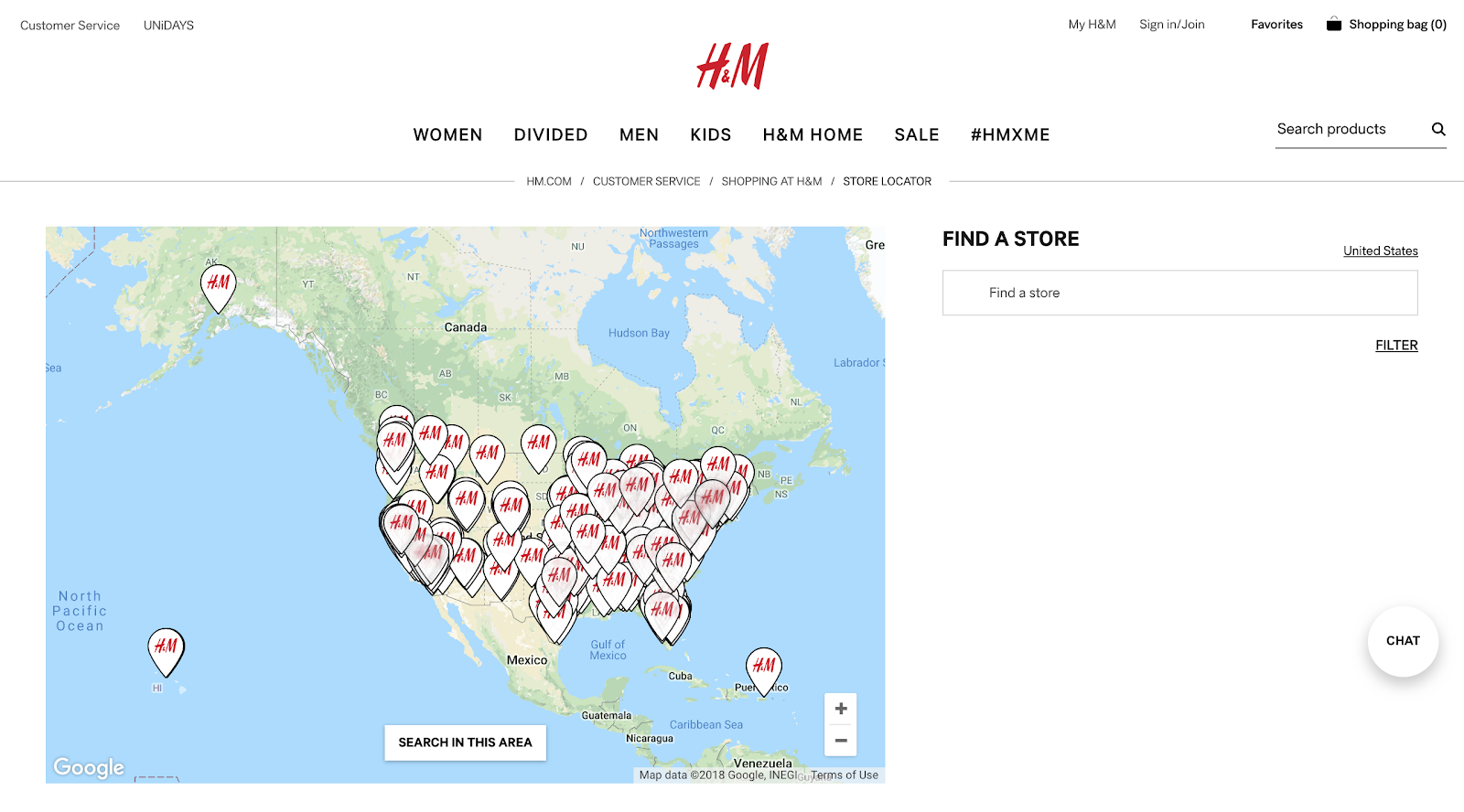 h&m-geolocator-example