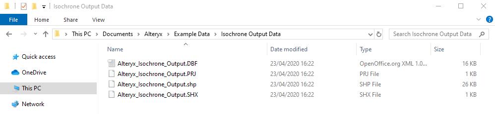 Tableau-isochrone-output