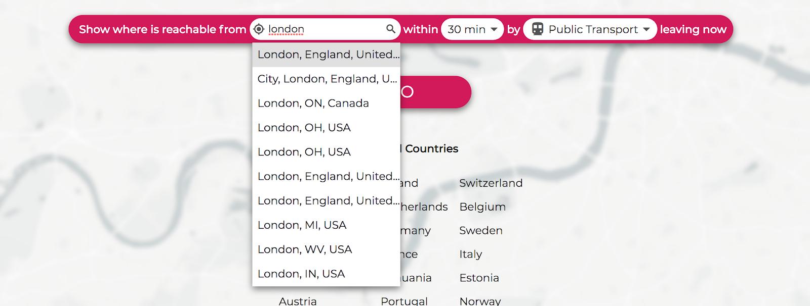 traveltime-search-box