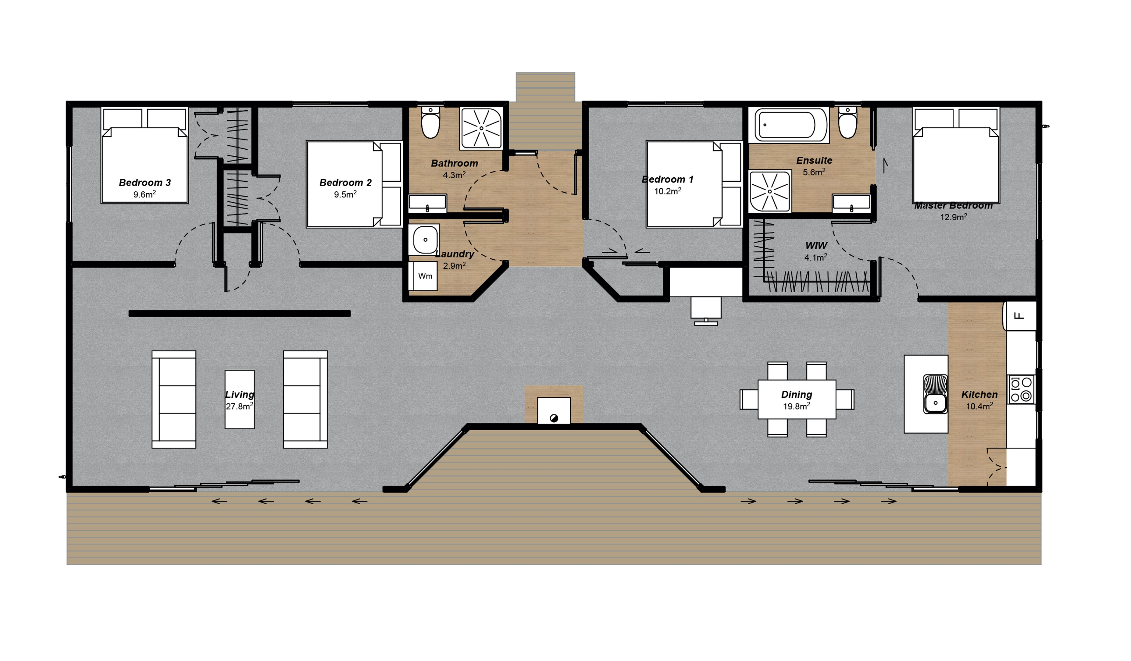 4 Bedroom House Floor Plan