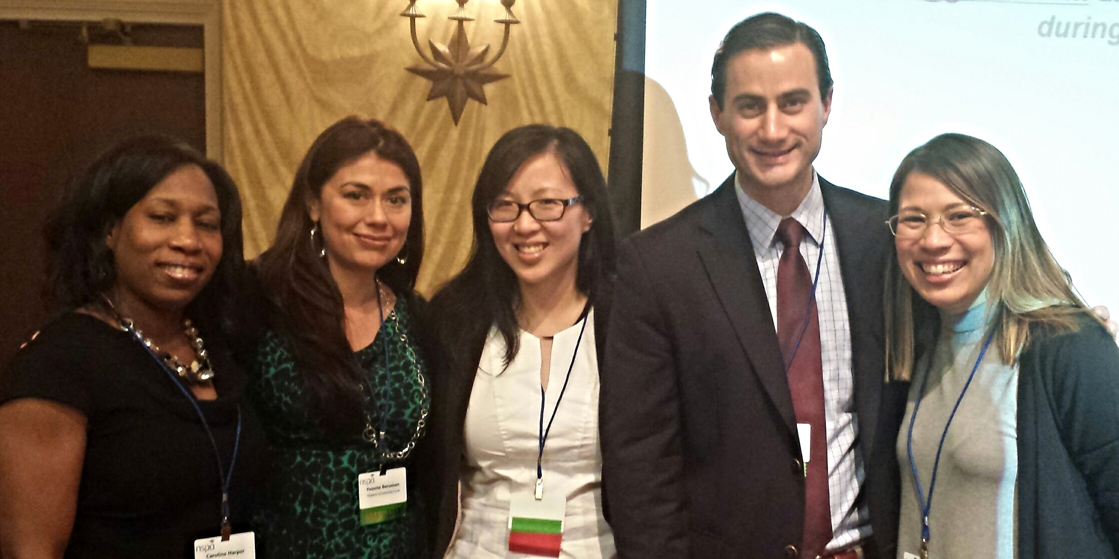 Nara Lee with noted NSPA presenters