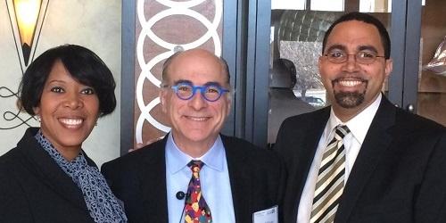 Crystal Bonds, Harold O. Levy, and Incumbent Secretary of Education John King