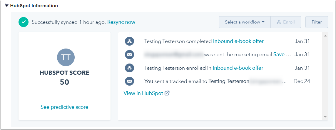 Add the HubSpot Visualforce window to your Salesforce page