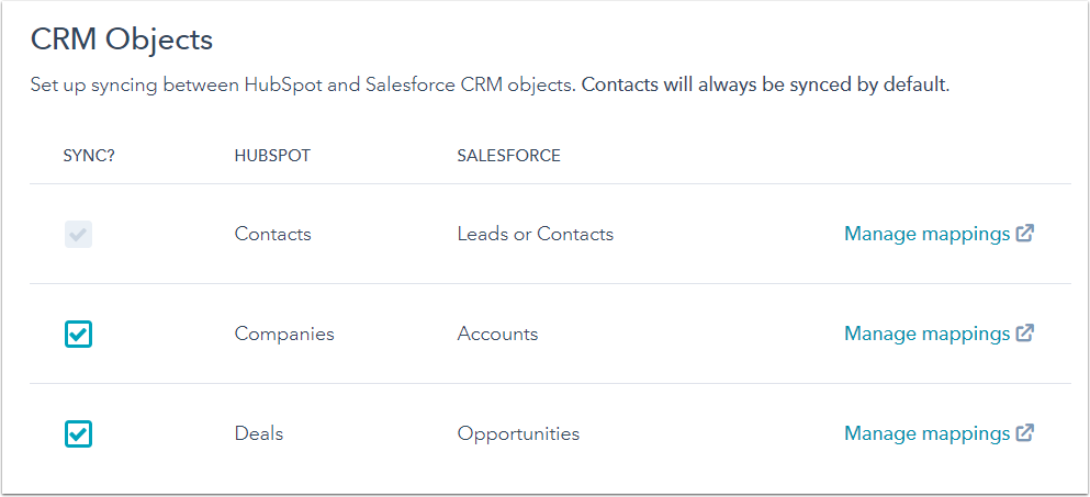 Manage your Salesforce integration settings
