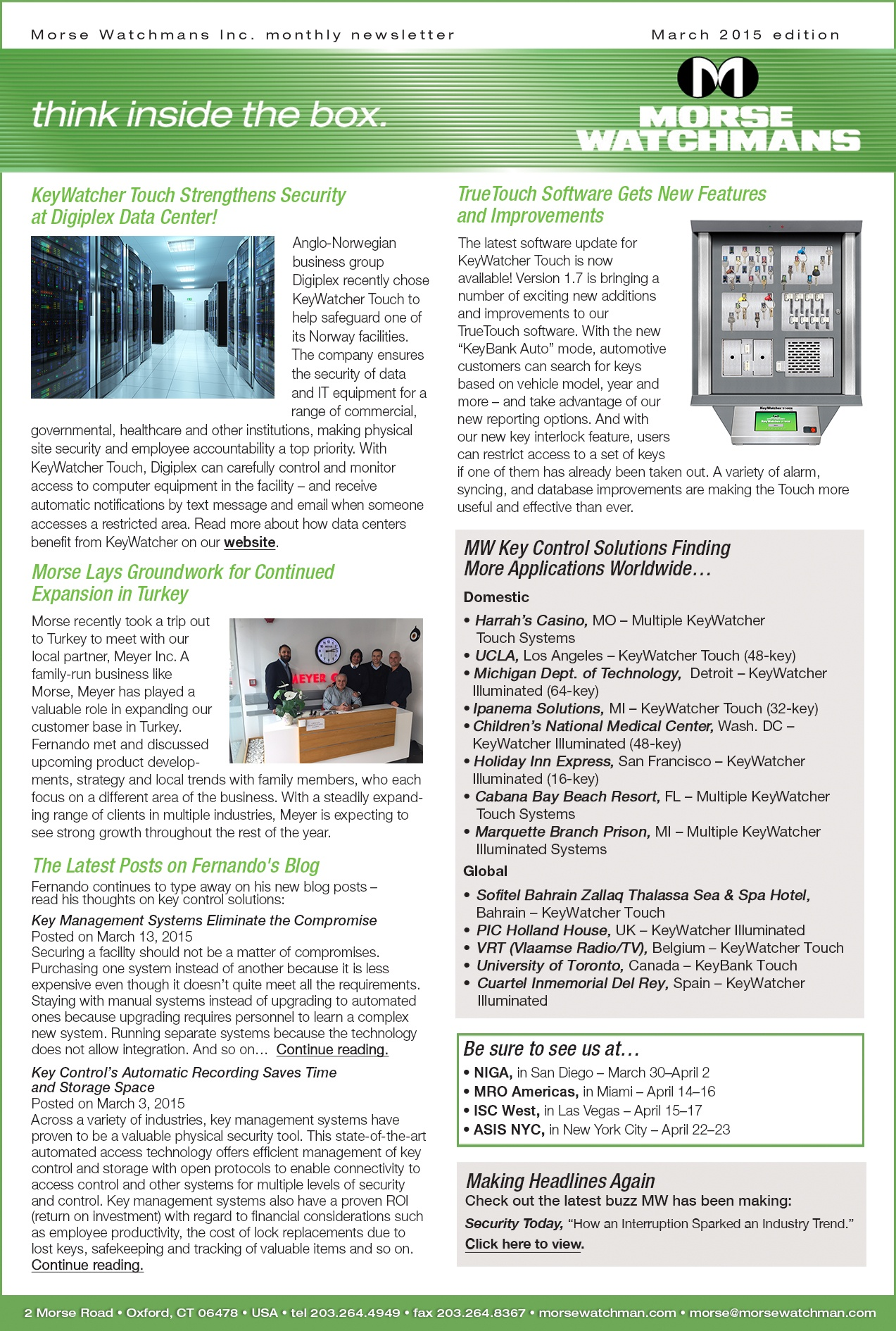 morse watchmans monthly e newsletter