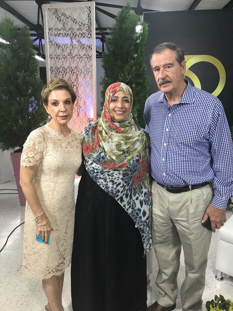 Marta Sahagún y Vicente Fox en Foro Siglo XXI